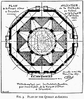 0123035 © Granger - Historical Picture ArchiveDOME OF THE ROCK.   Floor plan of the Dome of the Rock, French, 19th century.