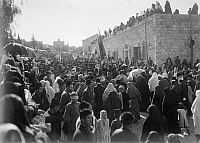 0130370 © Granger - Historical Picture ArchiveNABI MUSA FESTIVAL, 1920.   Palestinian Muslims celebrating Nabi Musa pilgrimage from Jerusalem to the Tomb of Moses near Jericho. Photograph, 1920.