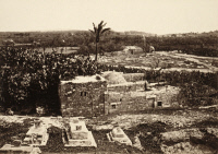 0634127 © Granger - Historical Picture ArchiveHOLY LAND: GAZA, c1860.   'Samson's Gate' in Gaza, Palestine. Photograph by Francis Frith, c1860.