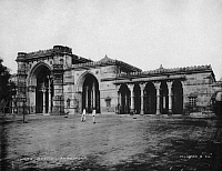 0322669 © Granger - Historical Picture ArchiveINDIA: JAMA MASJID.   The 15th century Jama Masjid (Friday Mosque) in Ahmedabad, India. Photograph by Clifton and Company, late 19th or early 20th century.