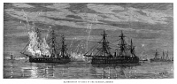 0370898 © Granger - Historical Picture ArchiveGOLDEN JUBILEE, 1887.   Illuminations of ships in the harbor of Bombay, India, in honor of Queen Victoria's Golden Jubilee, 1887. Contemporary English engraving.