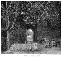 0370912 © Granger - Historical Picture ArchiveINDIA: BARABATI FORT, 1887.   Gate of the Barabati Fort, built in the 14th century near Cuttack, Odisha, India. English engraving, 1887.