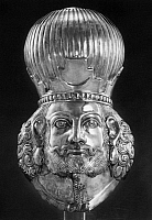 0095220 © Granger - Historical Picture ArchiveSASSANIAN KING.   Silver head of a Sassanian King, late 4th or early 5th century A.D.