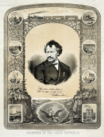 0527092 © Granger - Historical Picture ArchiveGEORGE FRANCIS TRAIN   (1829-1904). American entrepreneur and businessman. 'Champion of the Irish Republic.' Lithograph, c1869.