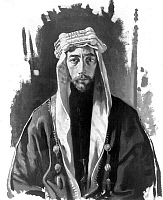 0111561 © Granger - Historical Picture ArchiveFAISAL I (1883-1933).   Arab statesman and King of Iraq 1921-33. Drawing, c1921.