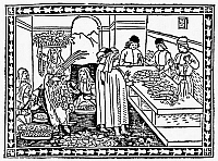 0016698 © Granger - Historical Picture ArchiveMARKET, 15th CENTURY.   A market at Florence, Italy. Woodcut, Italian, 15th century.