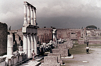 0024239 © Granger - Historical Picture ArchivePOMPEII: FORUM.   Forum, West Portico, and Temple of Jupiter.