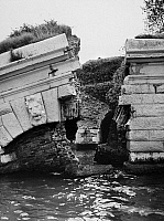 0123080 © Granger - Historical Picture ArchiveVENICE: FLOOD, 1966.   A wall of Fort Sant' Andrea, built in the 16th century, destroyed during a flood in Venice, November 1966.