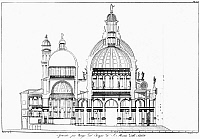 0124612 © Granger - Historical Picture ArchiveVENICE: LA SALUTE.   Cross section of the Basilica di Santa Maria Della Salute in Venice, Italy, designed by Baldassare Longhena, 17th century.