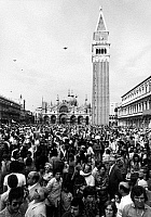 0124652 © Granger - Historical Picture ArchiveVENICE: SAINT MARK'S.   Crowd of people in Saint Mark's Square in Venice, Italy, mid 20th century.