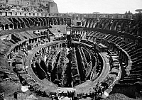 0124880 © Granger - Historical Picture ArchiveROME: COLOSSEUM EXCAVATION.   Excavation of the center of the arena in the Colosseum in Rome, 20th century.