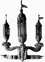 0125062 © Granger - Historical Picture ArchiveLANTERN, 17th CENTURY.   Triple fanal lantern from the galley of Francesco Morosini, Doge of Venice, 1688-1694.