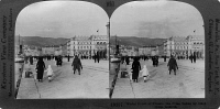 0325440 © Granger - Historical Picture ArchiveITALY: TRIESTE, c1918.   Street scene on the waterfront of Trieste, Italy. Stereograph, c1918.