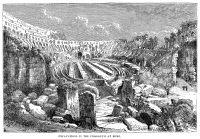 0355197 © Granger - Historical Picture ArchiveROME: COLOSSEUM.   Excavations at the Colosseum in Rome. Wood engraving, 1875, after a drawing from 1820.