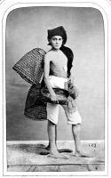 0622779 © Granger - Historical Picture ArchiveNAPLES: FISHER BOY, 1869.   A peasant fisher boy of Naples, Italy. Photograph, 1869.