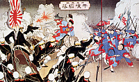 0023231 © Granger - Historical Picture ArchiveSINO-JAPANESE WAR, 1894.   Contemporary Japanese print of their victorious war with China in Korea, 1894.