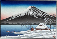 0259398 © Granger - Historical Picture ArchiveJAPAN: MOUNT FUJI.   Mount Fuji in the wintertime. Woodcut, late 19th to early 20th century.