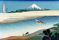 0259402 © Granger - Historical Picture ArchiveHOKUSAI: MOUNT FUJI.   A view of Mount Fuji in Japan. Woodcut by Katsushika Hokusai, late 18th or early 19th century.