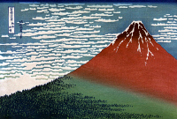 0259408 © Granger - Historical Picture ArchiveHOKUSAI: GAIFU KAISEI.   View of Mount Fuji in Japan. Woodcut by Katsushika Hokusai, early 19th century.