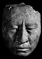 0167703 © Granger - Historical Picture ArchiveMEXICO: MAYAN SCULPTURE.   Stucco sculpture of a human head from the Temple of the Sun in Palenque, Chiapas, Mexico. Mayan, c750 A.D.
