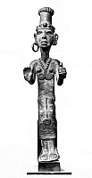 0259881 © Granger - Historical Picture ArchiveANCIENT NEAR EAST: STATUE.   Granite statue of a standing figure, from the Ancient Near East.