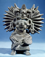0103522 © Granger - Historical Picture ArchiveMEXICO: VAMPIRE GODDESS.   Bat vampire goddess. Black ceramic figure typical of the Zapotec culture, from Monte Albán, Oaxaca, c100 A.D.
