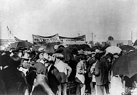 0123449 © Granger - Historical Picture ArchiveMEXICAN REVOLUTION, 1914.   Mass meeting at Torreón, Mexico, in support of the federal army and the goverment of Victoriano Huerta during the Mexican Revolution, April 1914.