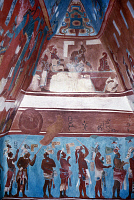 0168399 © Granger - Historical Picture ArchiveMEXICO: MAYAN FRESCOES.   Procession of Mayan men. Painting from a reconstruction of the Temple of the Murals at Bonampak in Chiapas, Mexico, originally painted c790 A.D.