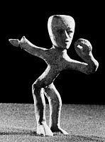 0168482 © Granger - Historical Picture ArchiveMEXICO: TEOTIHUACAN FIGURE.   Ceramic dancing figure from Teotihuacan, Mexico, 350-650 A.D.