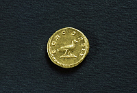 0355584 © Granger - Historical Picture ArchiveARCHAEOLOGY.   Faustina aureus depicting a dove. Roman coins, 2nd century AD. Full Credit: De Agostini / A. De Gregorio / Granger, NYC -- All rights reserved.