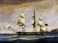 0368807 © Granger - Historical Picture ArchiveHISTORY.   Sardinian frigate from the 2nd half of 19th century, painting, Italy, 19th century. Full Credit: De Agostini Picture Library / Granger, NYC -- All rights reserved.