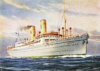0368812 © Granger - Historical Picture ArchiveHISTORY.   The Italian steamship the Argentina, in service on the South America route, 1947 advertising poster, Italy, 20th century. Full Credit: De Agostini Picture Library / Granger, NYC -- All Rights Reserved.