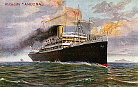 0368814 © Granger - Historical Picture ArchiveHISTORY.   The Italian steamship the Ancona, launched in 1907, engraving, 20th century. Full Credit: De Agostini Picture Library / Granger, NYC -- All rights reserved.