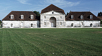 0369217 © Granger - Historical Picture ArchiveHISTORY.   A building at the Royal Saltworks (Saline Royale), Arc-et-Senans, Franche-Comte, France. Detail. Full Credit: De Agostini Picture Library / Granger, NYC -- All rights re