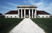 0369218 © Granger - Historical Picture ArchiveHISTORY.   Main entrance to the Royal Saltworks (Saline Royale), Arc-et-Senans, Franche-Comte, France. Detail. Full Credit: De Agostini Picture Library / Granger, NYC -- All rights