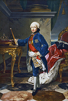 0369241 © Granger - Historical Picture ArchiveHISTORY.   Portrait of Ferdinand IV (1751-1825), King of Naples at nine years of age. Painting by Anton Raphael Mengs (1728-1779), oil on canvas, 180x126 cm. Full Credit: De Agostini / A. Dagli Orti / Granger, NYC -- All rights reserved.