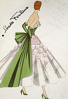 0369582 © Granger - Historical Picture ArchiveHISTORY.   Design for an evening dress by Antonio Pascali for the workshop of the Fontana sisters, 20th century. Full Credit: De Agostini Picture Library / Granger, NYC -- All righ