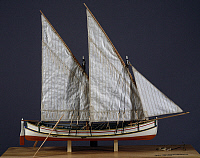 0369733 © Granger - Historical Picture ArchiveHISTORY.   Model of a the Sorrentine felucca, 1905 Italy, 20th century. Full Credit: De Agostini / A. Dagli Orti / Granger, NYC -- All Rights Reserved.