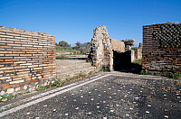 0410277 © Granger - Historical Picture ArchiveARCHAEOLOGY.    Ruins of the Roman baths, Ferento, Lazio, Italy. Roman civilisation. Full credit: De Agostini / S. Vannini / Granger, NYC -- All rights reserved.
