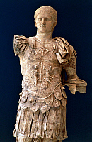 0410688 © Granger - Historical Picture ArchiveARCHAEOLOGY.    Statue of Titus Flavius ??Domitian, Roman Emperor from 81 to 96, from Vaison-La-Romaine, Provence-Alpes-Cote d'Azur, France. Roman civilisation. Full credit: De Agostini / C. Sappa / Granger, NYC -- All rights reserved.