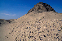 0410835 © Granger - Historical Picture ArchiveARCHAEOLOGY.    Pyramid of Sesostris II, el-Lahun, Fayyum region, Egypt. Egyptian civilisation, Middle Kingdom, Dynasty XII. Full credit: De Agostini / S. Vannini / Granger, NYC -- All Rights Reserved.
