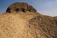 0410838 © Granger - Historical Picture ArchiveARCHAEOLOGY.    Pyramid of Sesostris II, el-Lahun, Fayyum region, Egypt. Egyptian civilisation, Middle Kingdom, Dynasty XII. Full credit: De Agostini / S. Vannini / Granger, NYC -- All Rights Reserved.
