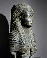 0410841 © Granger - Historical Picture ArchiveARCHAEOLOGY.    Ptolemaic queen, granite statue found at Fouah. Egyptian Civilisation, Ptolemaic Period, 1st century BC. Full credit: De Agostini / S. Vannini / Granger, NYC -- All Rights Reserved.