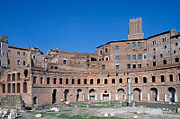 0410917 © Granger - Historical Picture ArchiveARCHAEOLOGY.    Trajan's Markets, Imperial Forum, Trajan's Forum, Rome, Lazio, Italy. Roman civilisation, 1st century. Full credit: De Agostini / W. Buss / Granger, NYC -- All righ