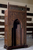 0411382 © Granger - Historical Picture ArchiveARCHAEOLOGY.    Movable wooden mihrab for the mausoleum of Sayyida Ruqiyya, donated by Ulam al-Ameriyya, wife of the Caliph Al-Amir Bi Ahkam Allah. Fatimid period, 12th century. Full credit: De Agostini Picture Library / Granger, NYC -- All Rights Reserved.