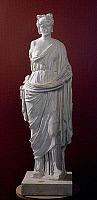 0411687 © Granger - Historical Picture ArchiveARCHAEOLOGY.    Marble statue known as the Maiden of Sezze. Roman civilisation. Full credit: De Agostini / A. De Gregorio / Granger, NYC -- All rights reserved.
