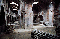 0413616 © Granger - Historical Picture ArchiveARCHAEOLOGY.    Underground passageways of the Flavian Amphitheatre, Pozzuoli, Campania, Italy. Roman civilisation, 1st century. Full credit: De Agostini / A. Vergani / Granger, NYC -- All Rights Reserved.