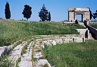 0413768 © Granger - Historical Picture ArchiveARCHAEOLOGY.    Entrance and steps of the Augustan age Roman amphitheatre, Lucera, Capitanata, Puglia, Italy. Roman civilisation, 1st century. Full credit: De Agostini Picture Library / Granger, NYC -- All rights reserved.