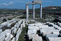 0413912 © Granger - Historical Picture ArchiveARCHAEOLOGY.    Ruins of the The meeting hall of the Poseidoniasts of Beirut, Delos island (Unesco World Heritage List, 1990), Greece. Greek civilisation. Full credit: De Agostini Picture Library / Granger, NYC -- All rights reserved.