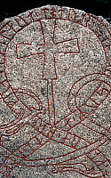 0414163 © Granger - Historical Picture ArchiveARCHAEOLOGY.    Rune stone, Oland island, Sweden. Viking civilisation. Full credit: De Agostini / M. Seemuller / Granger, NYC -- All Rights Reserved.
